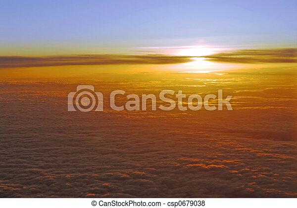 nuvens, acima - csp0679038