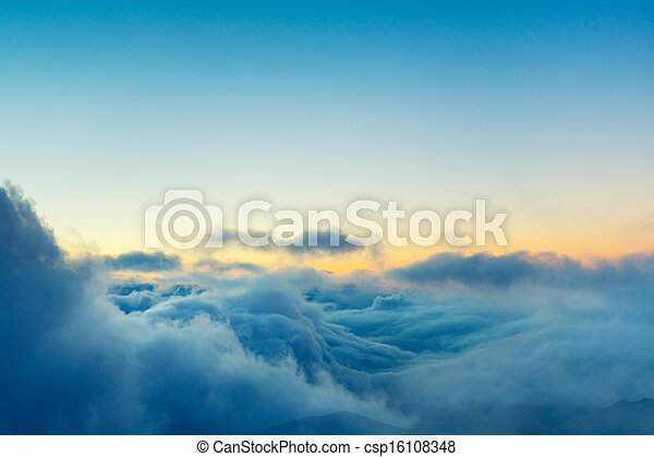 nuvens, acima, vista - csp16108348