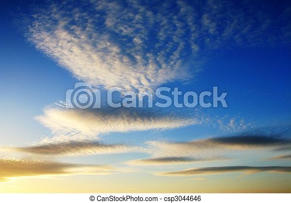nuvens, céu ocaso - csp3044646