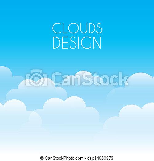 nuvens, desenho - csp14080373