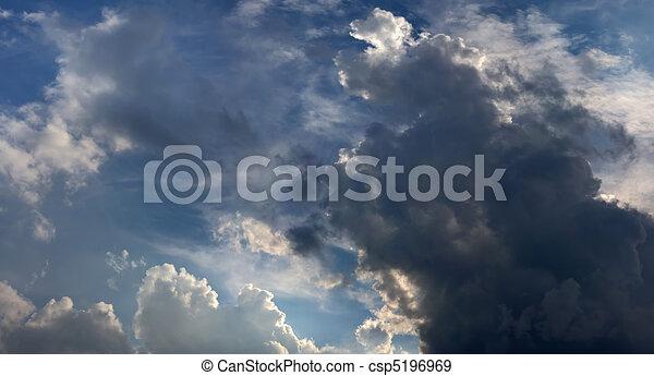 nuvens escuras, chuva, antes de - csp5196969