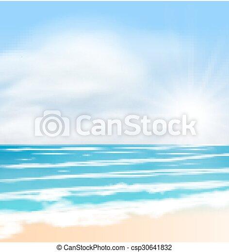 nuvens, sol, macio, luminoso, mar, amanhecer - csp30641832