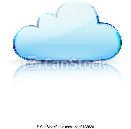 nuvola, icona - csp9123626