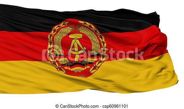 Nva East Germany Flag, Isolated On White