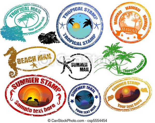 nyár, tropikus, topog - csp5554454