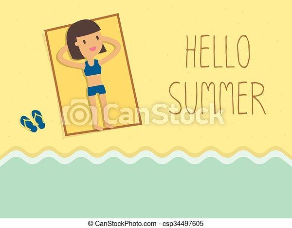 nyár - csp34497605