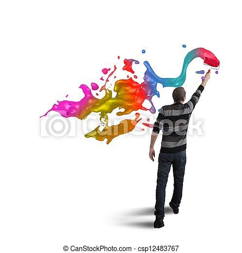 nyílik, kreativitás, ügy - csp12483767