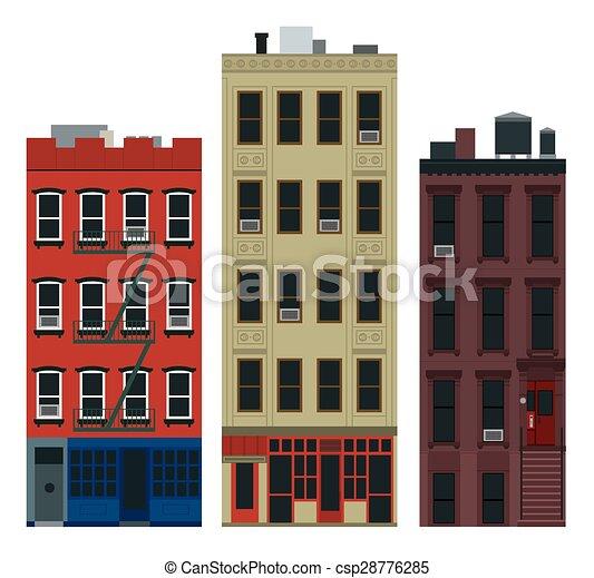 Edificios de Nueva York - csp28776285