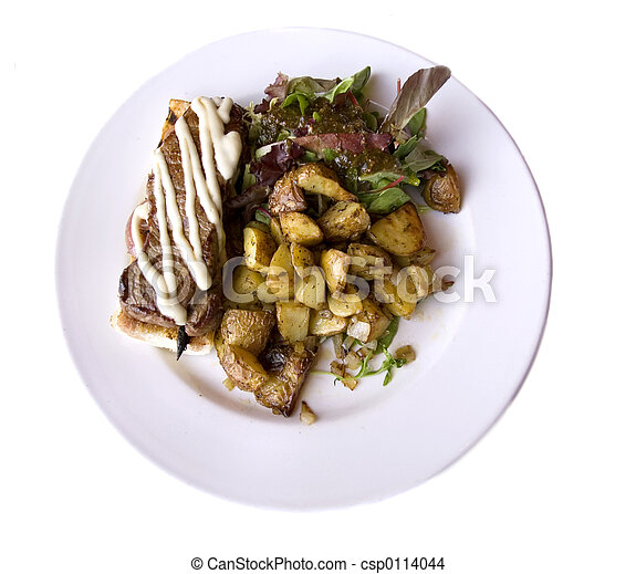 NY steak and roasted - csp0114044