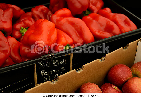nya vegetables, marknaden, frukter - csp22178453
