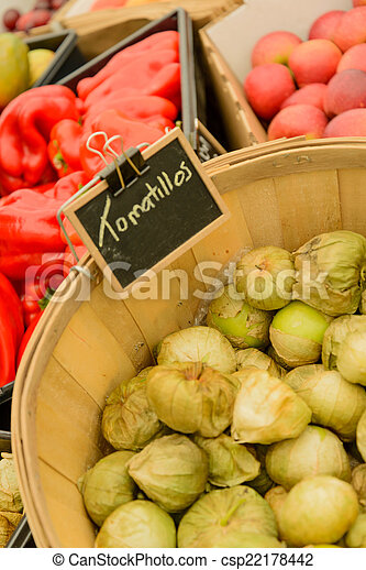 nya vegetables, marknaden, frukter - csp22178442