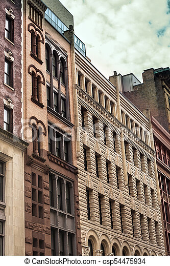 nyc apartments row of vintage new york city apartment buildings in