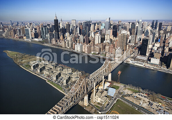 nyc., puente, queensboro - csp1511024