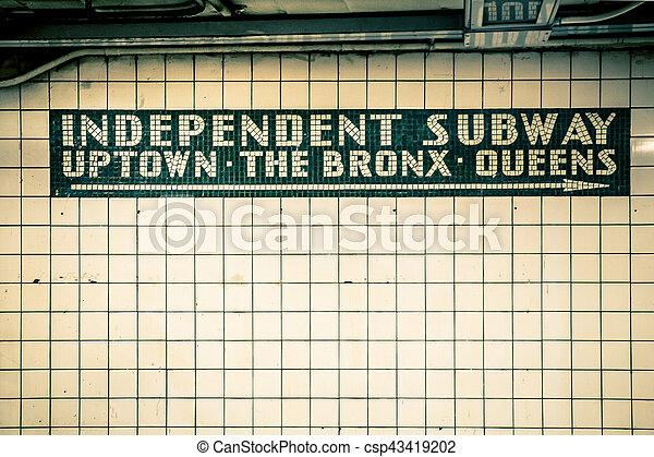 NYC Subway Wall - csp43419202