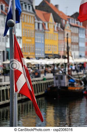 nyhavn, danemark, copenhague - csp2306316