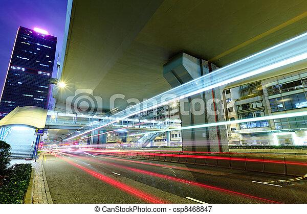 nyomoz, fény, forgalom, éjszaka, város - csp8468847