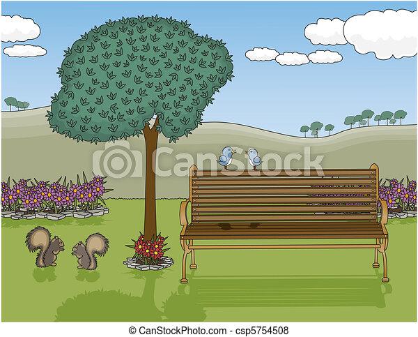 oásis, banco parque - csp5754508