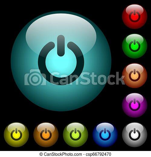 oświetlany, moc, ikony, kolor, pikolak, szkło, witka - csp66792470