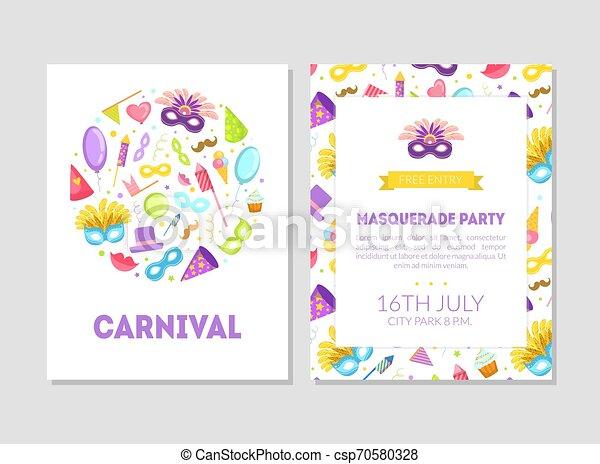 Carnaval Pancarta De Fiesta De Disfraces Folleto O Tarjeta
