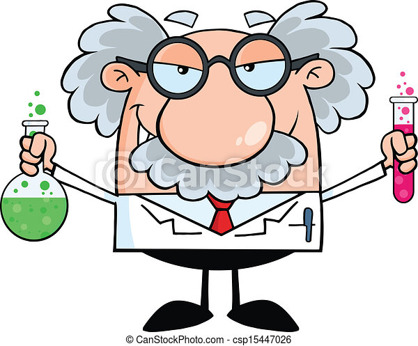 Científico loco o profesor - csp15447026