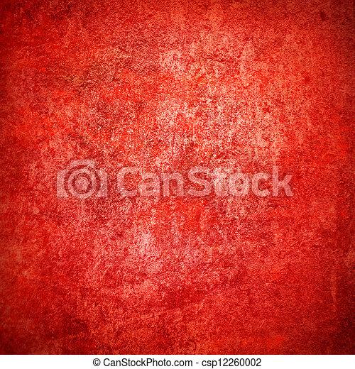 Abstraer el fondo rojo o el papel con el centro de atención y el marco oscuro de la frontera con la textura de fondo grunge - csp12260002