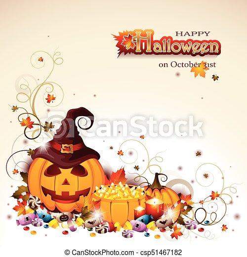 Antecedentes de Halloween con Jack O' linterna - csp51467182
