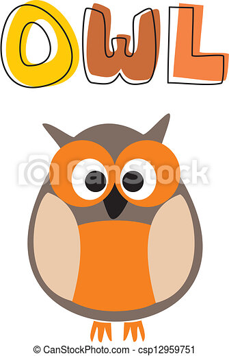 O is for owl vector illustration - csp12959751