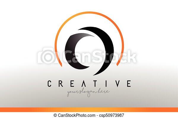 Cool Letter I Logo.O Letter Logo Design With Black Orange Color Cool Modern Icon Template