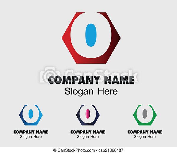 O Logo Company Name Symbol Letter O Vector Search Clip Art