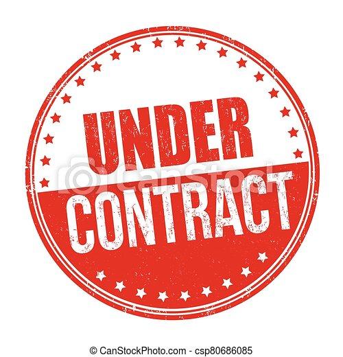 o, señal, estampilla, debajo, contrato - csp80686085