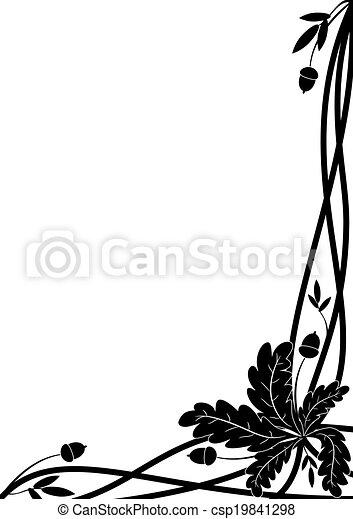 oak border - csp19841298