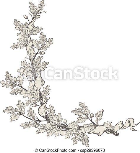 Oak branch - csp29396073