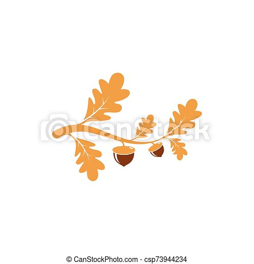 Oak. branch vector illustration - csp73944234