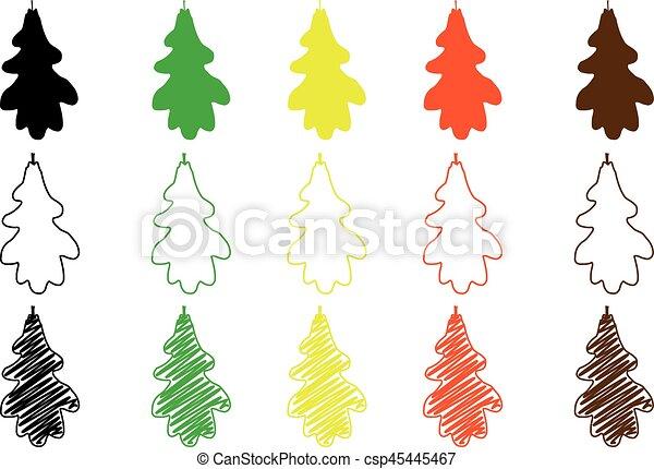 oak leaf - color set - csp45445467