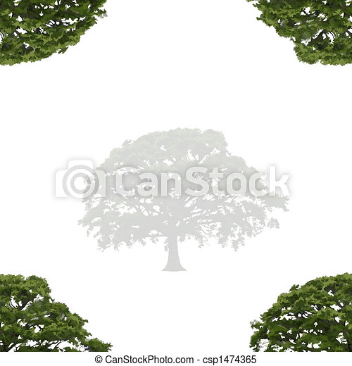 Oak Tree in Summer Abstract - csp1474365