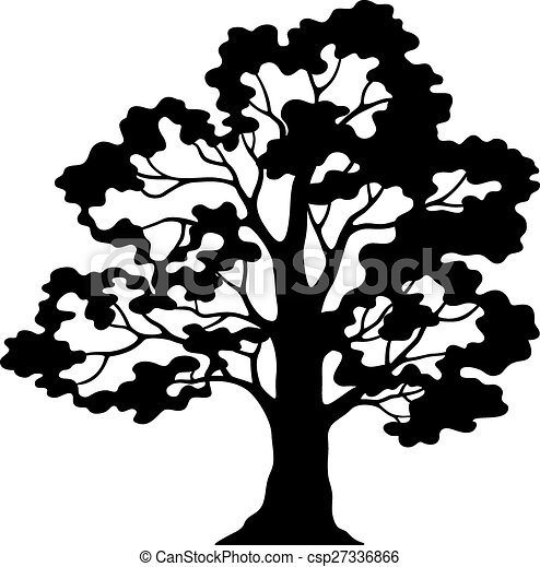 oak tree pictogram black silhouette and contours isolated clip rh canstockphoto com oak tree graphic oak tree graphics free