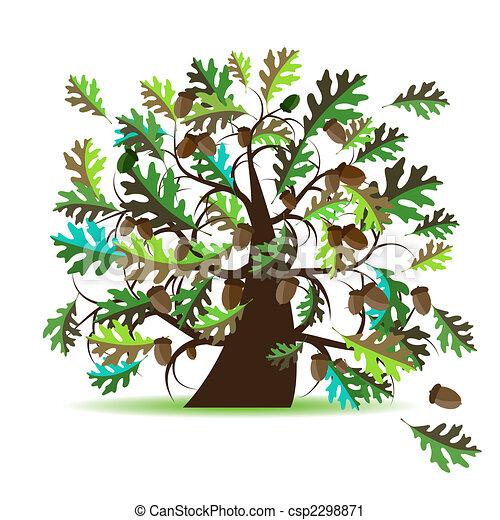 Oak tree, summer - csp2298871