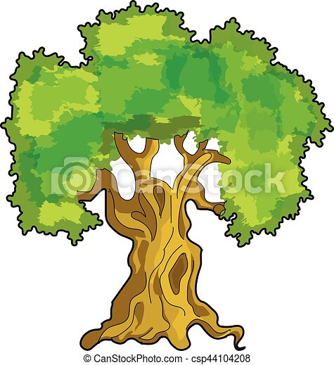 oak tree the green oak on a white background vector clipart rh canstockphoto com white oak tree graphic white oak tree graphic