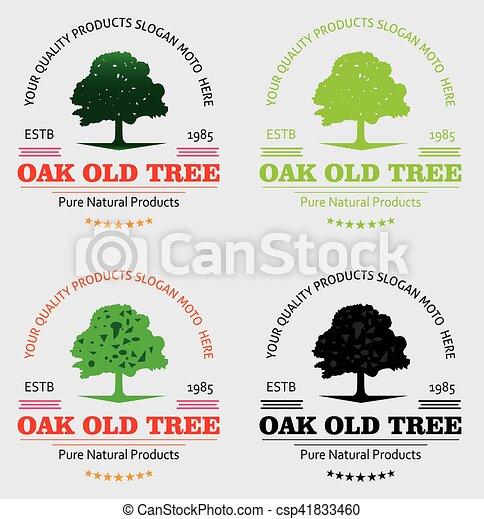 Oak Vintage Tree Logo