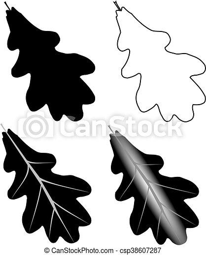 oak,(Quercus robur) - csp38607287