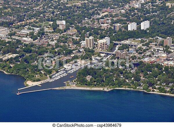 Oakville Ontario aerial - csp43984679