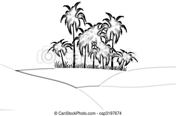 oasis in desert - csp3197674