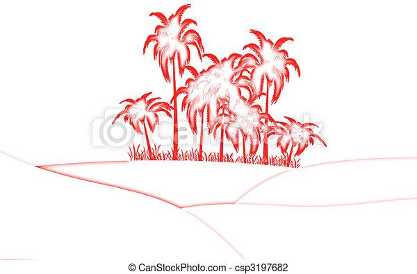 oasis in desert - csp3197682