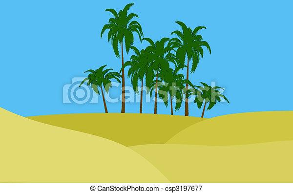 oasis in desert - csp3197677