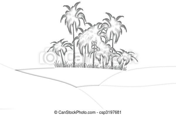 oasis in desert - csp3197681