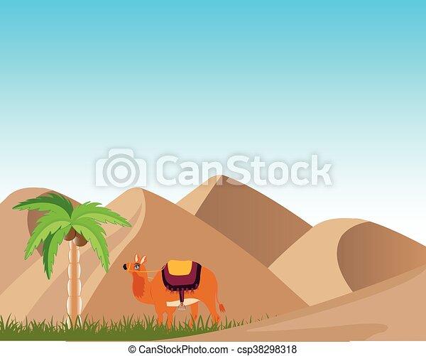 Oasis in desert - csp38298318