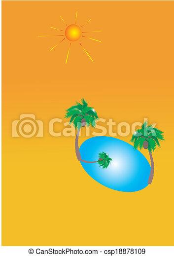oasis in desert - csp18878109