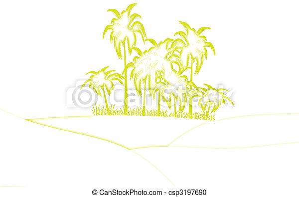 oasis in desert - csp3197690