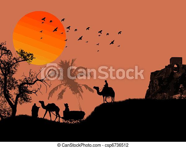 Oasis in sahara desert - csp6736512