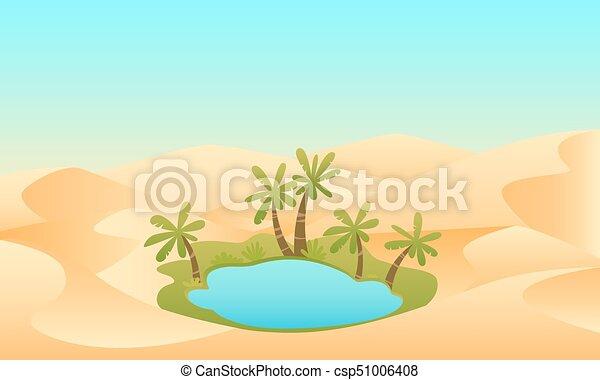 Oasis in the desert - csp51006408